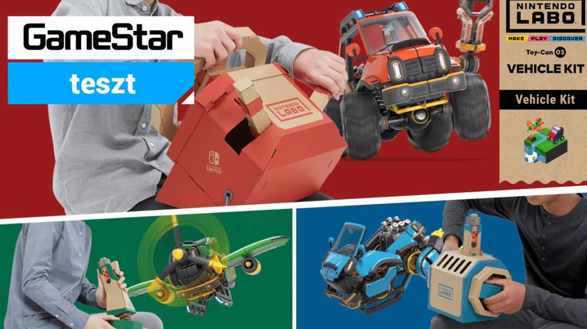 Nintendo Labo Toy-Con 03: Vehicle Kit teszt - apa kocsit hajtogat bevezetőkép
