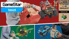 Nintendo Labo Toy-Con 03: Vehicle Kit teszt - apa kocsit hajtogat kép