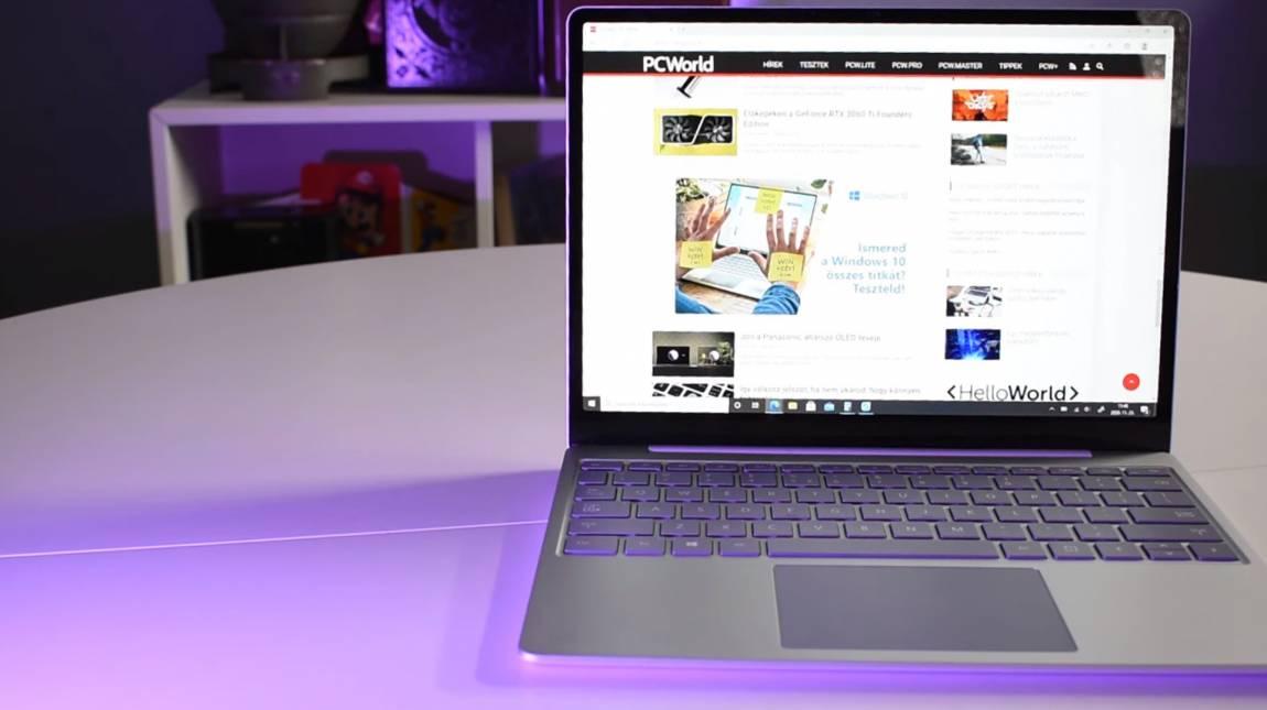 A Microsoft Surface Laptop Go pici, de annál menőbb kép
