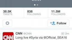 Meghackelték a CNN-t a szírek kép