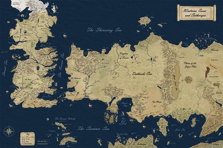 Westeros Karte Hd.Zsenialis Interaktiv Terkep Tronok Harca Rajongoknak Hir