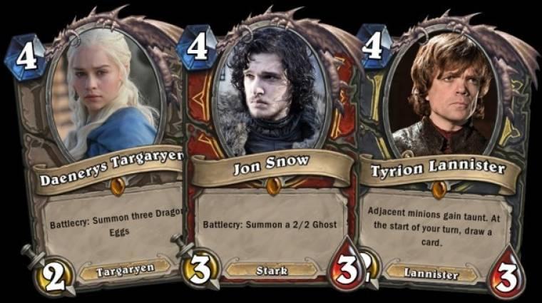 Hearthstone - a Game of Thrones karaktereivel lenne az igazi bevezetőkép
