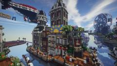 Megépítették a Bioshock Infinite Columbiáját a Minecraftban kép