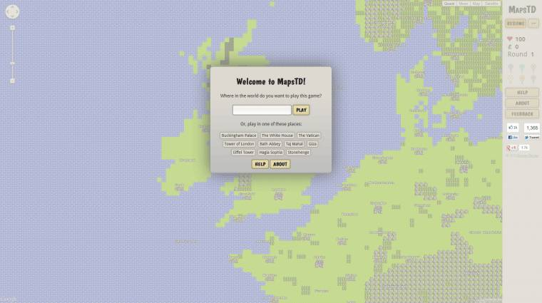 MapsTD - védd meg a lakhelyed a piros gombostűktől bevezetőkép