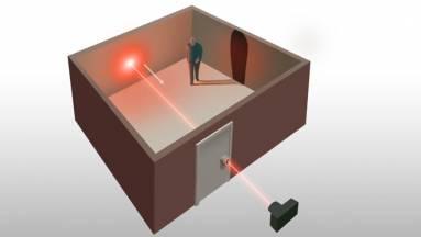 A tudósok lézerrel látnak be a zárt szobába kép