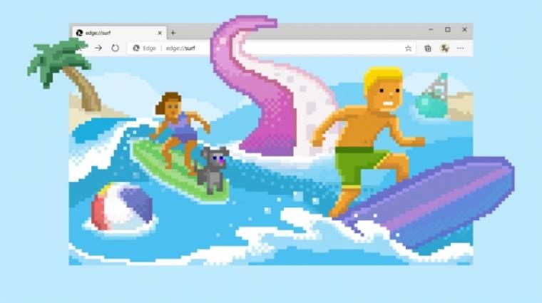 Beépített szörfös játékkal érkezett meg a Edge böngésző új verziója bevezetőkép