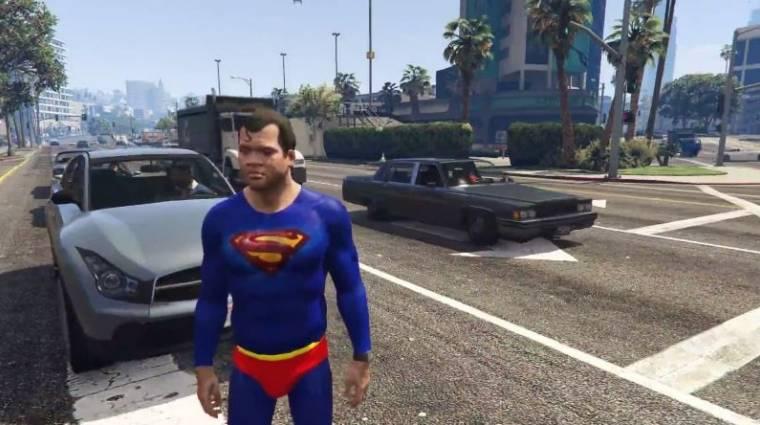 Grand Theft Auto V PC mod - eljött Superman ideje bevezetőkép