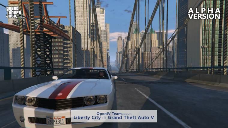 Csúszik a Grand Theft Auto V-ös Liberty City mod bevezetőkép
