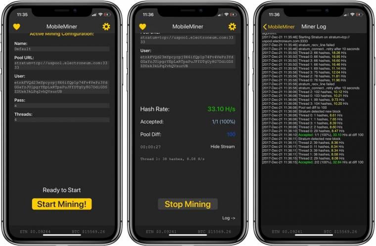 bitcoin bányászati alkalmazás iphone