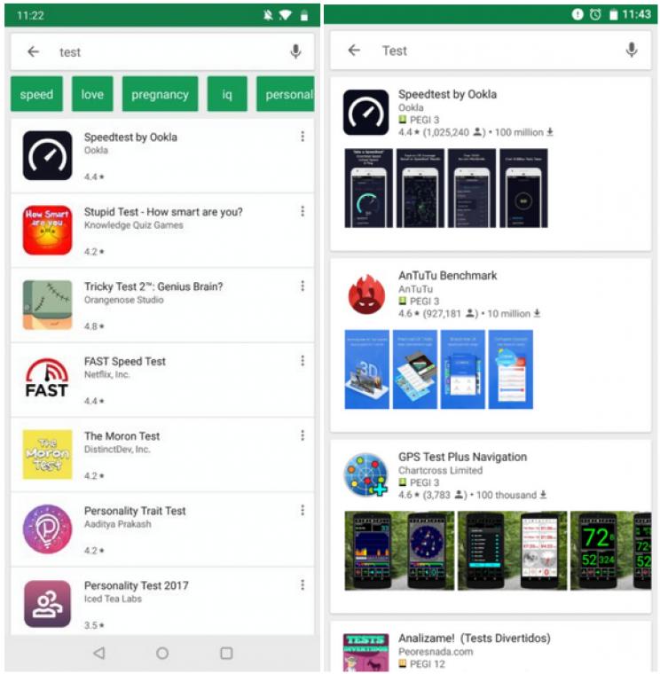 622030ff8d Kártyaszerű felületet tesztel a Google Play Áruház - PC World