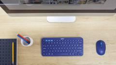 Apró, de sokoldalú klaviatúra és egér Logitech módra kép