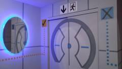 Ütősre sikerült a Portal témájú hálószoba kép