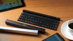 Egyszerű gépelés mobilon a bottá feltekerhető klaviatúrával kép