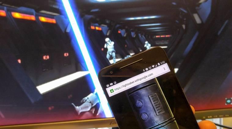 Fénykarddá változtatja a telefonod a Google legújabb Star Wars-os kísérlete bevezetőkép