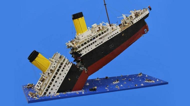 Mindössze 120 000 LEGO darab kellett a süllyedő Titanic megépítéséhez bevezetőkép