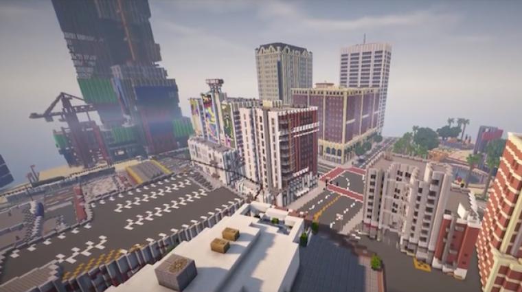 A Minecraftban alkotják újra Los Santos pontos mását bevezetőkép