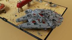 Ilyen a Star Wars: Az ébredő Erő egyik helyszínének LEGO verziója kép