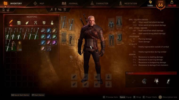 The Witcher 3 - ez a mod visszaállítja az E3-as bemutatóban látott menüket bevezetőkép