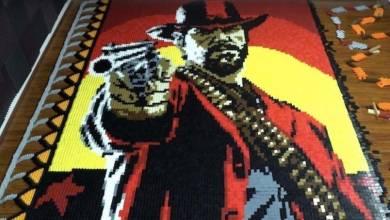 Így néz ki a Red Dead Redemption 2 főhőse 29 ezer dominóból kirakva