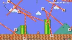 Super Mario Maker 2 - az 1-1 átalakított verziója egy picit nehezebb, mint az eredeti kép