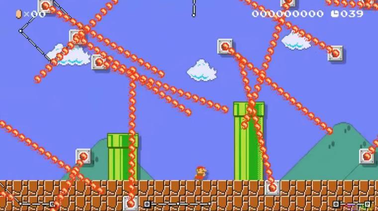 Super Mario Maker 2 - az 1-1 átalakított verziója egy picit nehezebb, mint az eredeti bevezetőkép