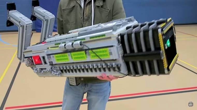 Hatalmas DOOM fegyver készült LEGO elemekből bevezetőkép