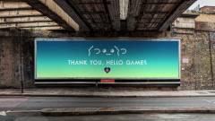 Óriásplakáttal köszönik meg a No Man's Sky játékosai a fejlesztők munkáját kép