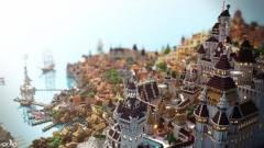 A The Witcher 3 Novigrádja egy ilyen csodás várost ihletett a Minecraftban kép