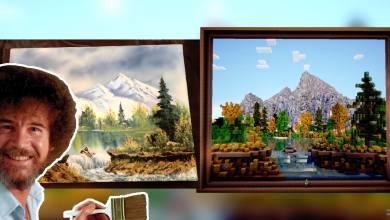 Minecraft - ezúttal egy Bob Ross festményt alkottak újra benne