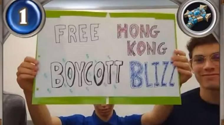Újabb Hongkongért tüntető játékosokat tiltott el a Blizzard bevezetőkép