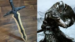 Szemétben talált fadarabból faragták ki a Skyrim ikonikus kardját kép
