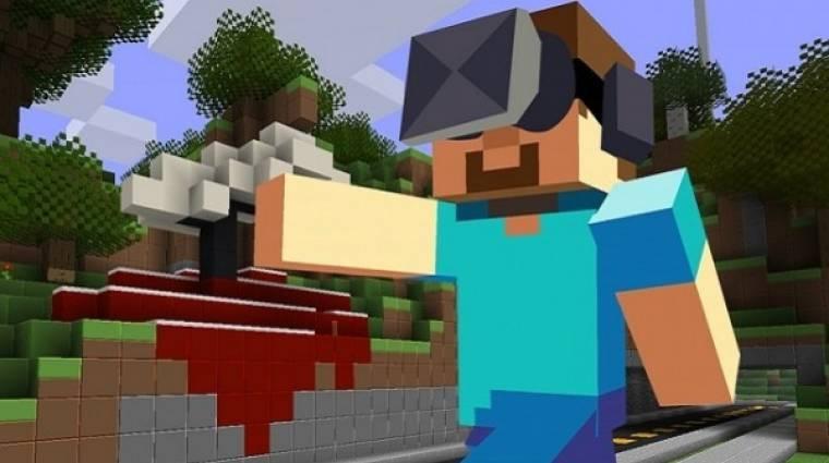 Minecraft - heteken belül jön az Oculus Rift támogatás bevezetőkép