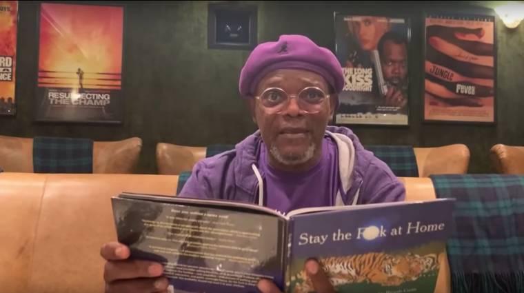 Sírva röhögős, ahogy Samuel L. Jackson felolvassa a Maradj otthon a p*csába című könyvet kép