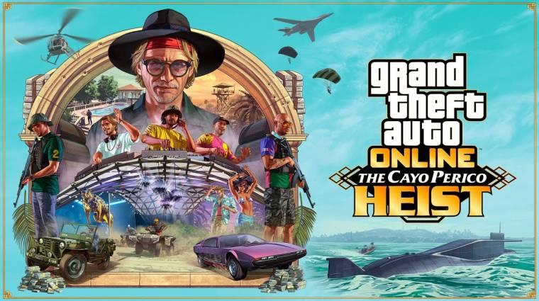Új videón a GTA Online The Cayo Perico Heist frissítése bevezetőkép