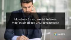 CRM rendszer bevezetése: 3 ok amiért érdemes fontolóra venni kép