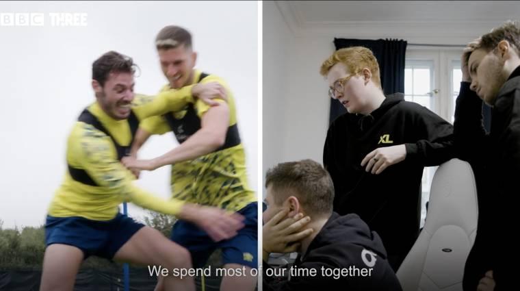 Dokumentumfilm-sorozat mutatja be, milyen egymáshoz képest a focisták és e-sportolók edzése bevezetőkép