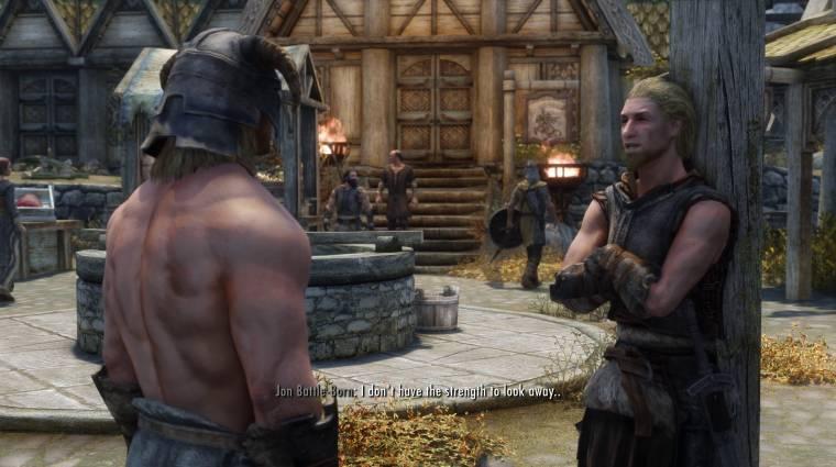 Napi büntetés: egy modnak hála Skyrim népe végre értékeli a Dragonborn izmos felsőtestét bevezetőkép