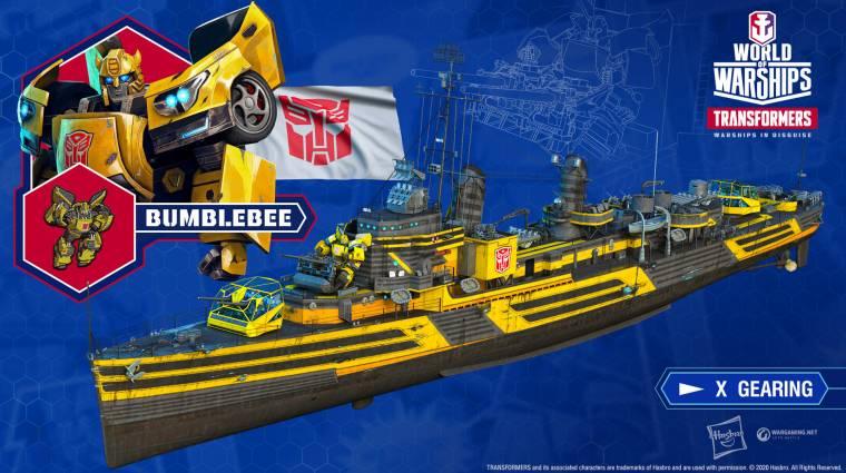 Kedvenc Transformers karaktereink csatlakoznak a World of Warships csatáihoz bevezetőkép