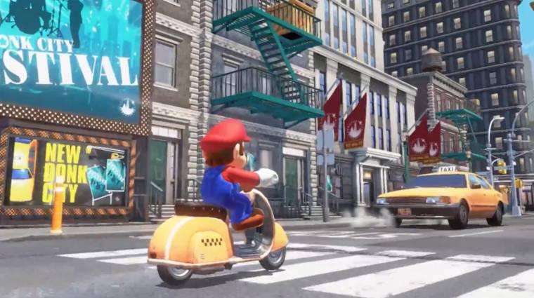 Super Mario Odyssey - 10 perc játékmenet New Donk Cityből bevezetőkép