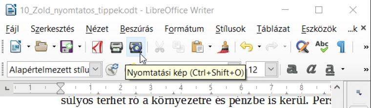 68d1644496 Ha a driver nem támogatná ezt, akkor használjuk ki az Office programokban  megtalálható Nyomtatási kép funkciót.