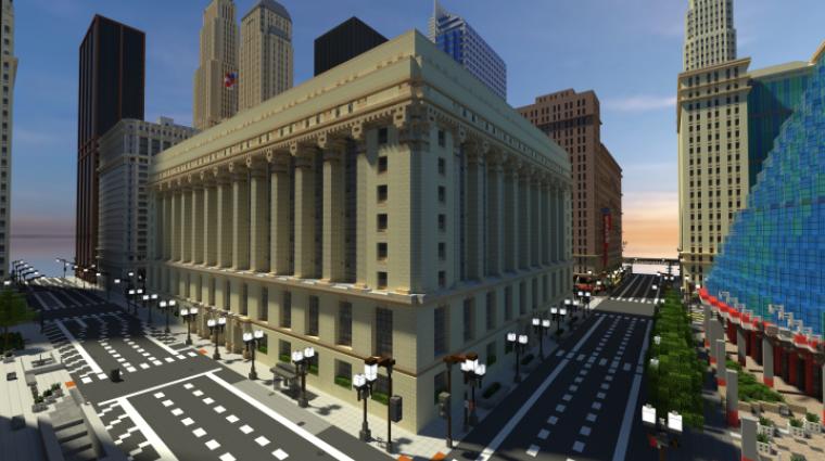 Minecraft - megépítik Chicago belvárosát bevezetőkép