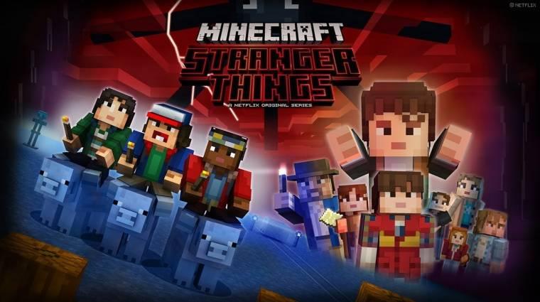 Hivatalos Stranger Things textúracsomagot kap a Minecraft bevezetőkép