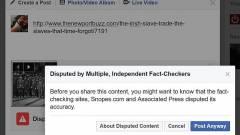 Álhírek megosztására figyelmeztet a Facebook kép