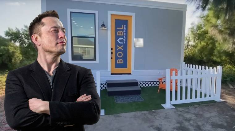 Elon Musk egy apró dobozházba költözött kép