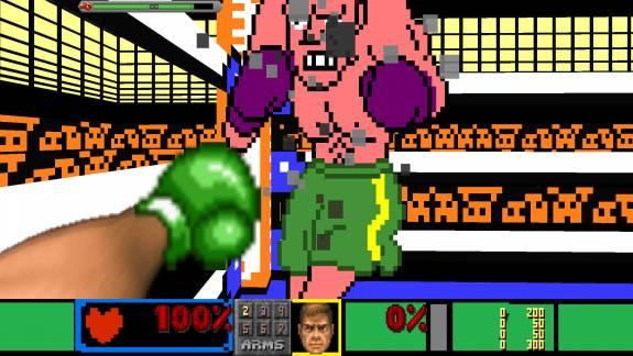 Igazi retró csoda a Punch Out belső nézetben Doom 2 motorral kép