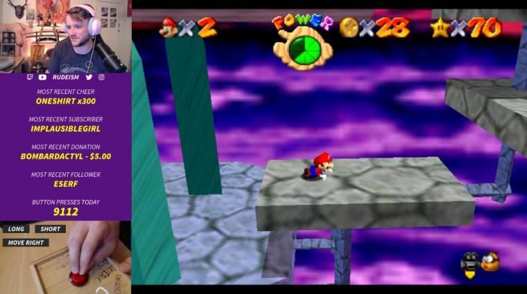 Napi büntetés: tudtátok, hogy akár egy gombbal is végigjátszható a Super Mario 64? bevezetőkép