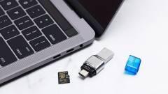Szupergyors, miniatűr microSD kártyaolvasó kép