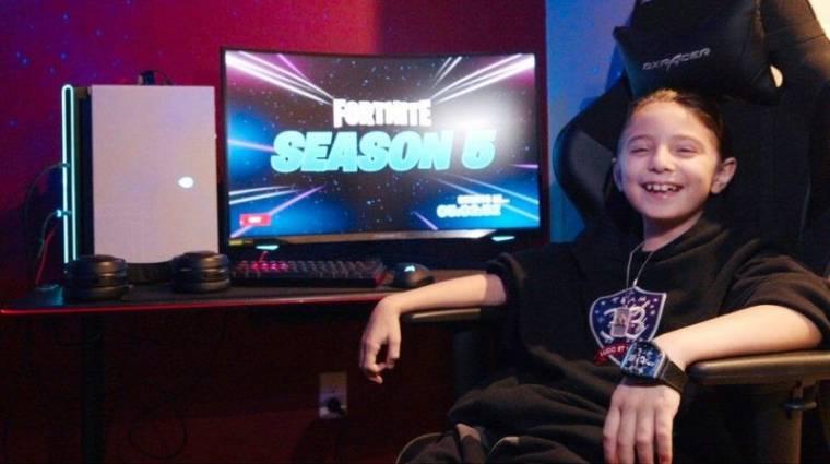 Nyolc éves és milliókat keres a Fortnite egyik profi játékosa bevezetőkép