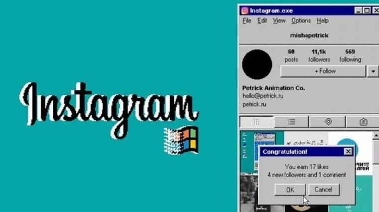 Ilyen lenne az Instagram, ha Windows 95-ön is futna bevezetőkép