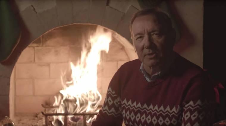 Kevin Spacey hátborzongató videóval készült karácsonyra kép